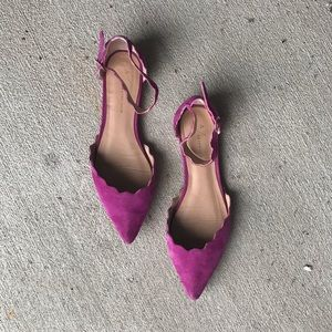 ANTHROPOLOGIE Scalloped D'orsay Flats